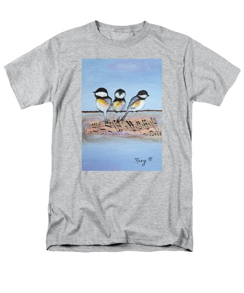 Chirpy Chickadees Men's T-Shirt  (Regular Fit) by Roxy Rich