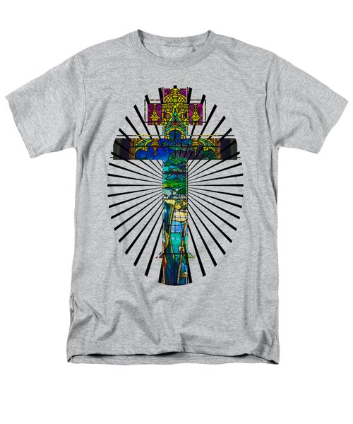 Men's T-Shirt  (Regular Fit) featuring the photograph Christian Cross No 1 by Robert G Kernodle