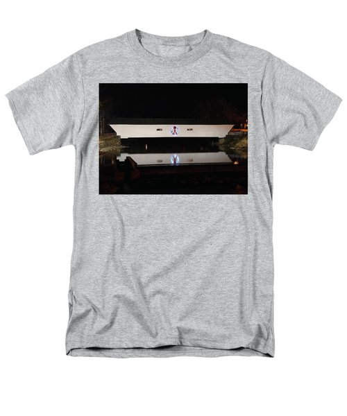 Christmas Covered Bridge Men's T-Shirt  (Regular Fit)