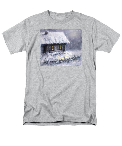 Men's T-Shirt  (Regular Fit) featuring the painting Christmas Eve by Arturas Slapsys