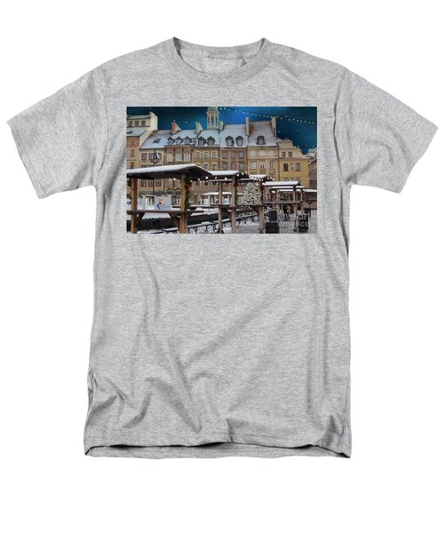 Men's T-Shirt  (Regular Fit) featuring the photograph Christmas In Warsaw by Juli Scalzi