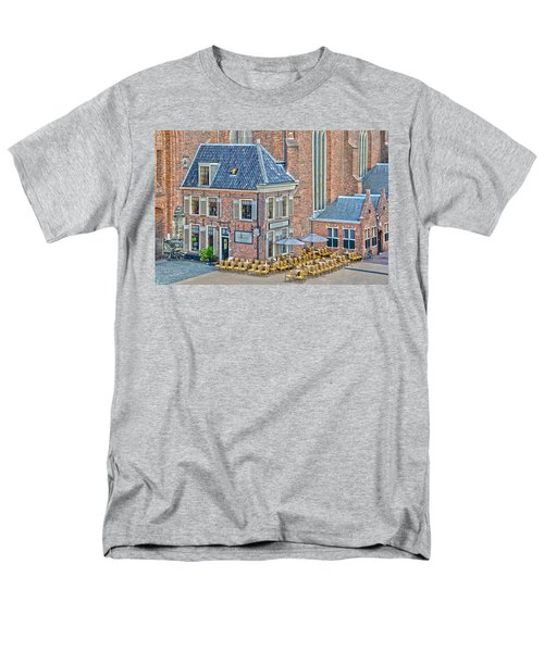 Men's T-Shirt  (Regular Fit) featuring the photograph Church Cafe In Groningen by Frans Blok