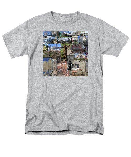 Men's T-Shirt  (Regular Fit) featuring the photograph Cincinnati's Favorite Landmarks by Robert Glover