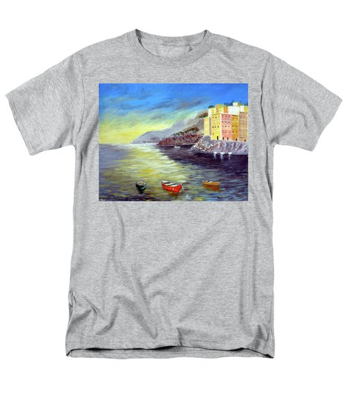 Men's T-Shirt  (Regular Fit) featuring the painting Cinque Terre Dreams by Larry Cirigliano