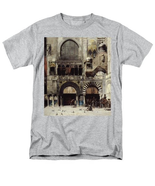 Circassian Cavalry Awaiting Their Commanding Officer At The Door Of A Byzantine Monument Men's T-Shirt  (Regular Fit) by Alberto Pasini