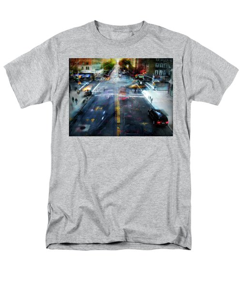 Cityscape 39 - Crossroads Men's T-Shirt  (Regular Fit) by Alfredo Gonzalez