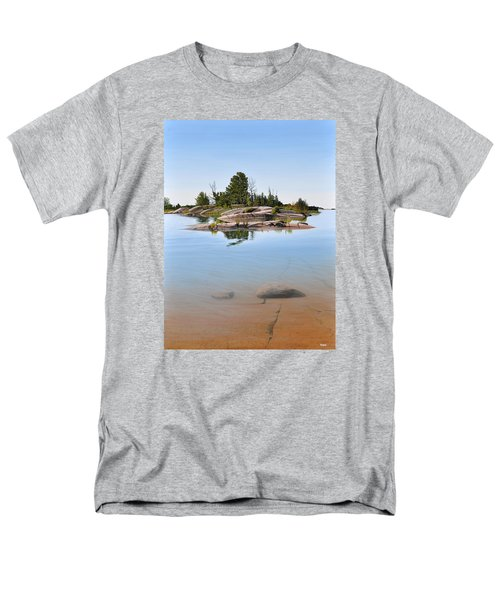 Men's T-Shirt  (Regular Fit) featuring the painting Clear Contentment by Kenneth M Kirsch