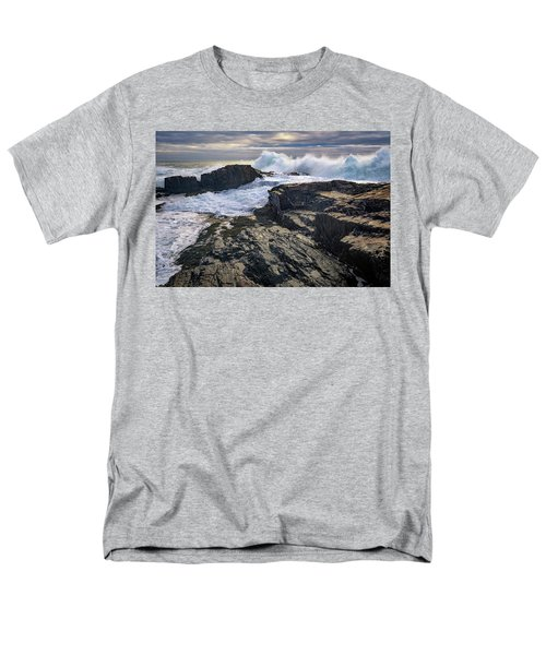 Men's T-Shirt  (Regular Fit) featuring the photograph Clearing Storm At Bald Head Cliff by Rick Berk