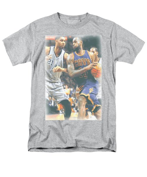 Cleveland Cavaliers Lebron James 4 Men's T-Shirt  (Regular Fit) by Joe Hamilton