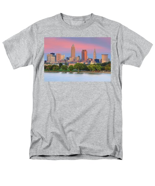 Men's T-Shirt  (Regular Fit) featuring the photograph Cleveland Skyline 6 by Emmanuel Panagiotakis