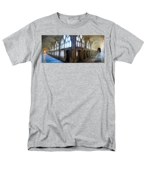 Cloisters, Gloucester Cathedral Men's T-Shirt  (Regular Fit) by Colin Rayner