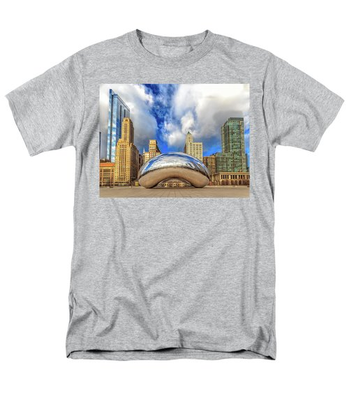 Men's T-Shirt  (Regular Fit) featuring the photograph Cloud Gate @ Millenium Park Chicago by Peter Ciro