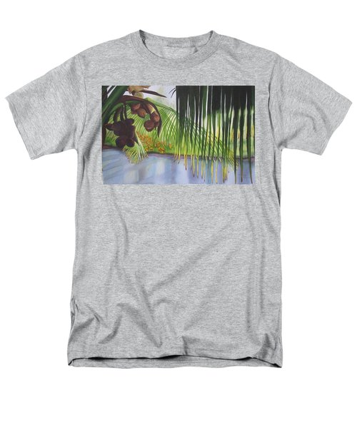 Men's T-Shirt  (Regular Fit) featuring the painting Coconut Tree by Teresa Beyer