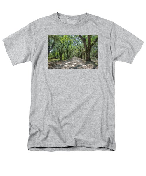 Men's T-Shirt  (Regular Fit) featuring the photograph Coffin Point Roadway by Patricia Schaefer