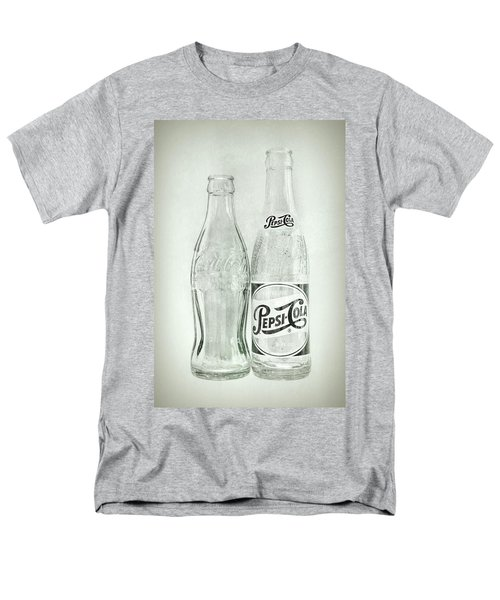 Coke Or Pepsi Black And White Men's T-Shirt  (Regular Fit) by Terry DeLuco