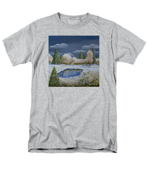 Men's T-Shirt  (Regular Fit) featuring the painting Cold Sky 1 by Melvin Turner