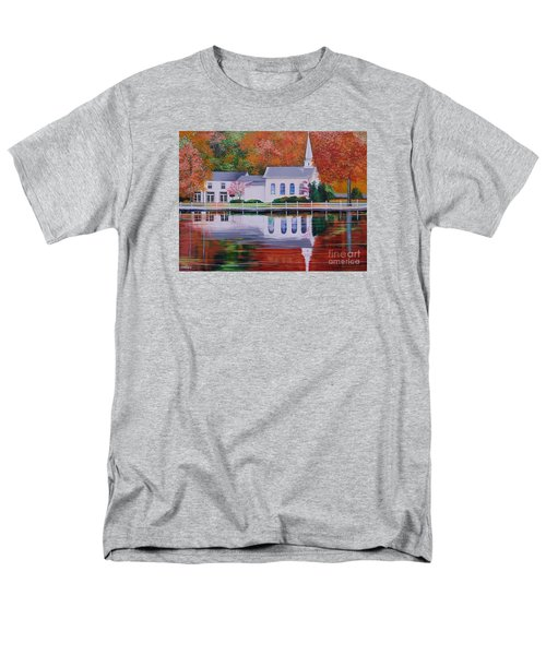 Cold Spring Harbor St Johns Church Men's T-Shirt  (Regular Fit) by Nereida Rodriguez