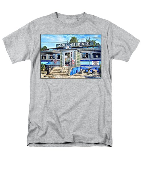 Collin's Diner New Canaan,conn Men's T-Shirt  (Regular Fit) by MaryLee Parker