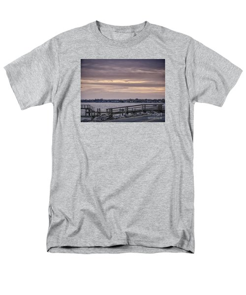 Men's T-Shirt  (Regular Fit) featuring the photograph Colonial Beach Virginia Waterfront   by Melissa Messick