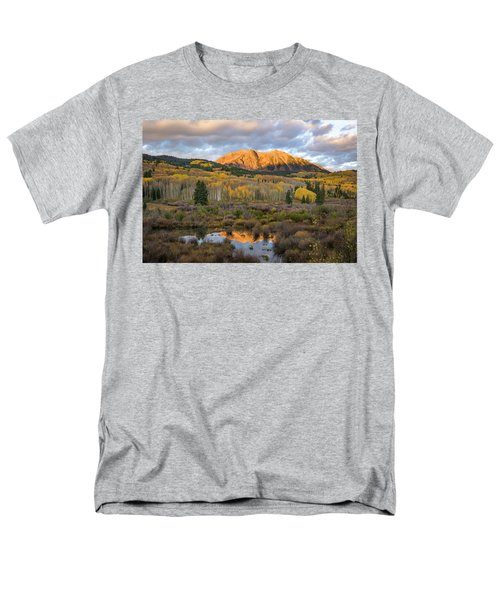 Men's T-Shirt  (Regular Fit) featuring the photograph Colorado Sunrise by Phyllis Peterson