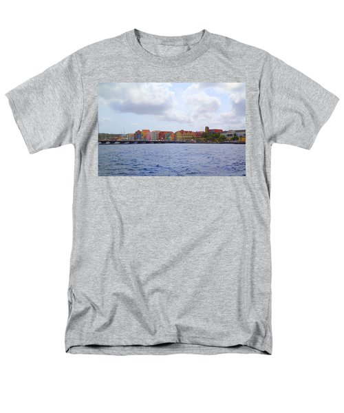 Men's T-Shirt  (Regular Fit) featuring the photograph Colorful Curacao by Lois Lepisto
