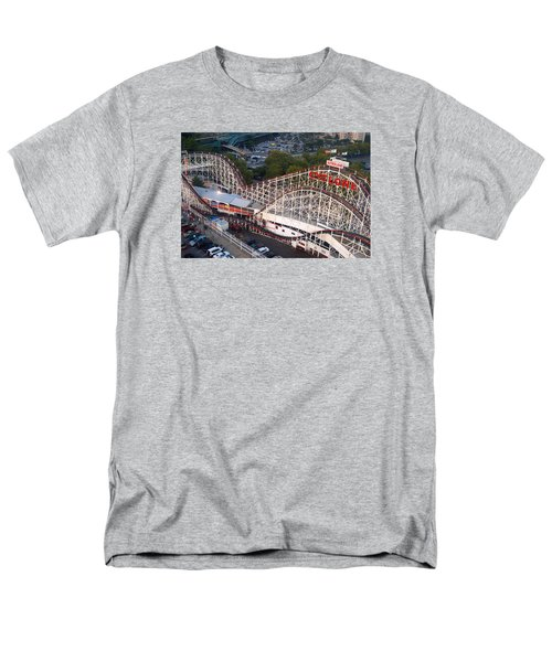 Men's T-Shirt  (Regular Fit) featuring the photograph Coney Island Cyclone by James Kirkikis