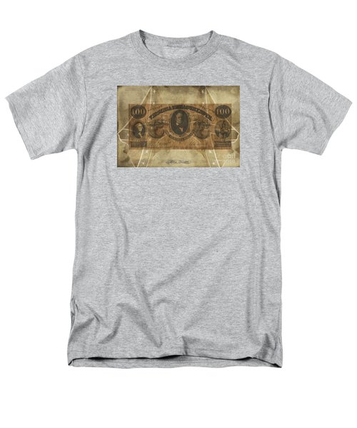 Men's T-Shirt  (Regular Fit) featuring the digital art Confederate $100 Virginia Note by Melissa Messick