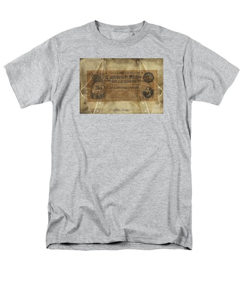 Men's T-Shirt  (Regular Fit) featuring the digital art Confederate $500.00 Note by Melissa Messick