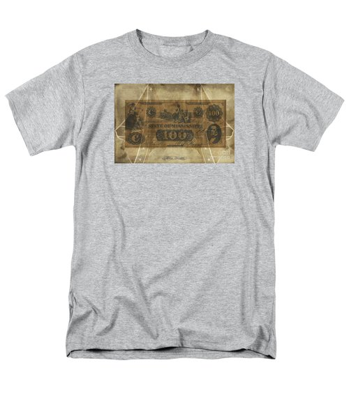 Men's T-Shirt  (Regular Fit) featuring the digital art Confederate Mississippi $100 Note by Melissa Messick