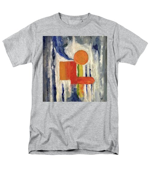 Men's T-Shirt  (Regular Fit) featuring the painting Construction by Victoria Lakes