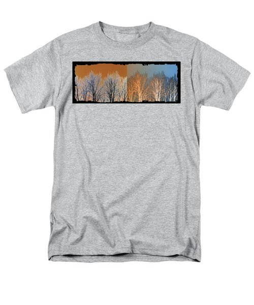 Men's T-Shirt  (Regular Fit) featuring the digital art Coppertone Fusion by Will Borden