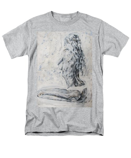 Men's T-Shirt  (Regular Fit) featuring the painting Cosmic Love by Jarko Aka Lui Grande