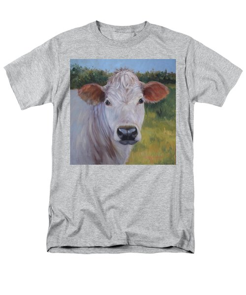 Cow Painting Ms Ivory Men's T-Shirt  (Regular Fit) by Cheri Wollenberg