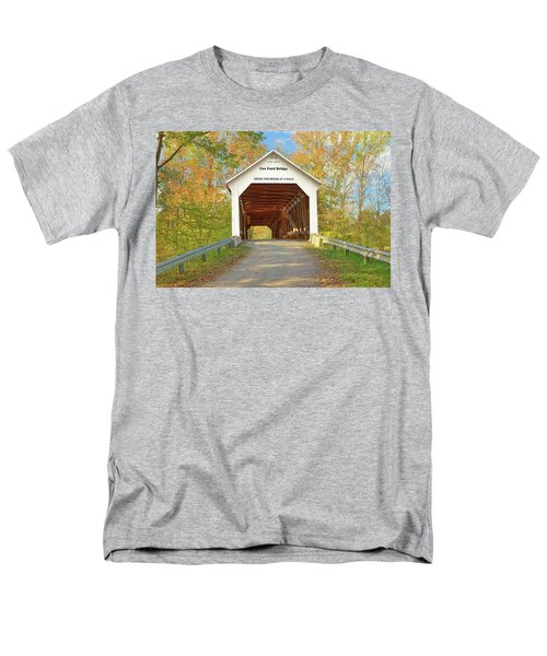 Men's T-Shirt  (Regular Fit) featuring the photograph Cox Ford Covered Bridge by Harold Rau