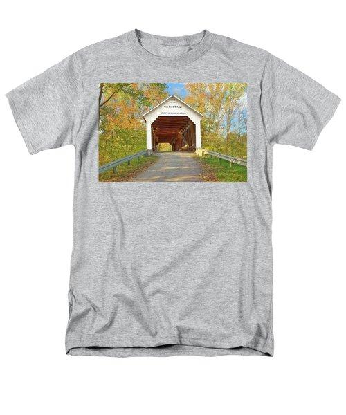 Cox Ford Covered Bridge Men's T-Shirt  (Regular Fit) by Harold Rau