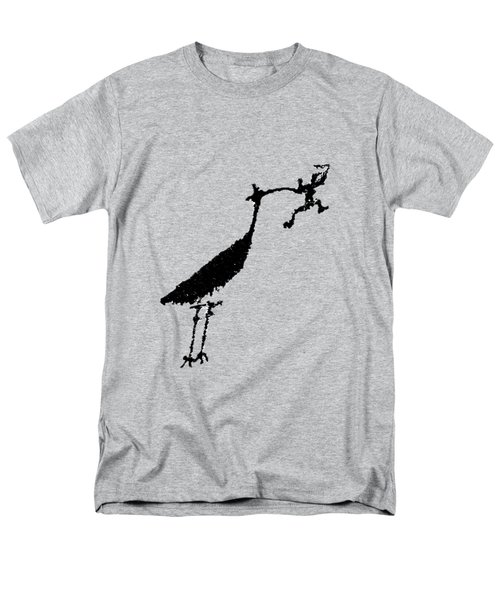 Men's T-Shirt  (Regular Fit) featuring the photograph Crane Petroglyph by Melany Sarafis