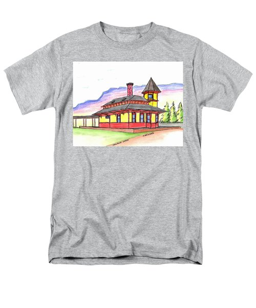 Crawford Notch Train Station Men's T-Shirt  (Regular Fit) by Paul Meinerth