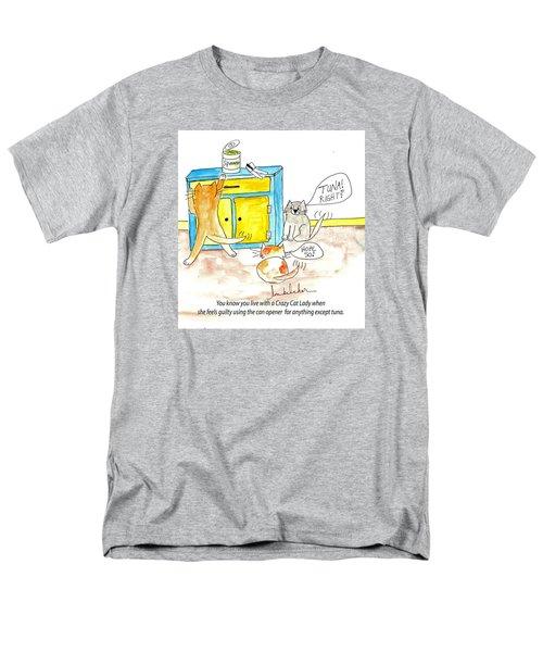 Crazy Cat Lade 0008 Men's T-Shirt  (Regular Fit) by Lou Belcher