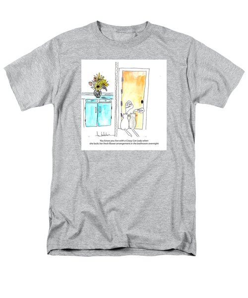 Crazy Cat Lady 0002 Men's T-Shirt  (Regular Fit) by Lou Belcher