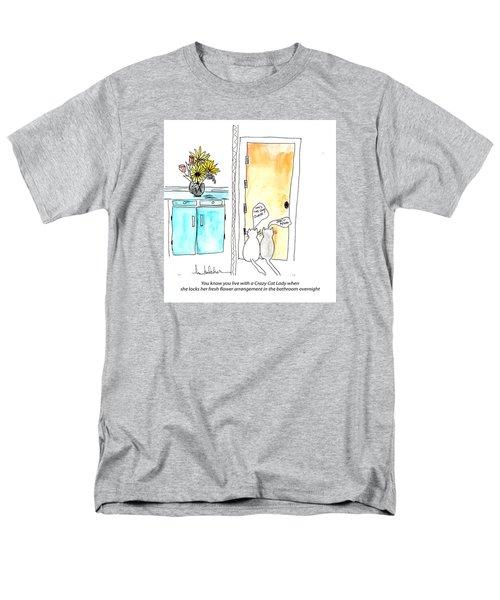 Crazy Cat Lady 0002 Men's T-Shirt  (Regular Fit)
