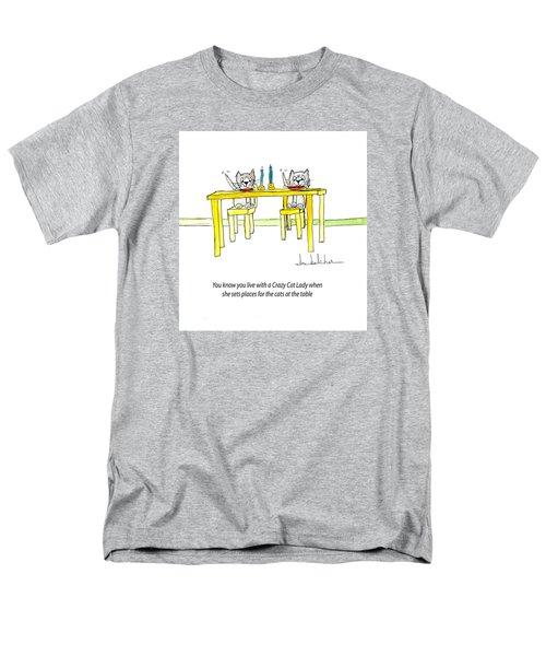 Crazy Cat Lady 0007 Men's T-Shirt  (Regular Fit) by Lou Belcher