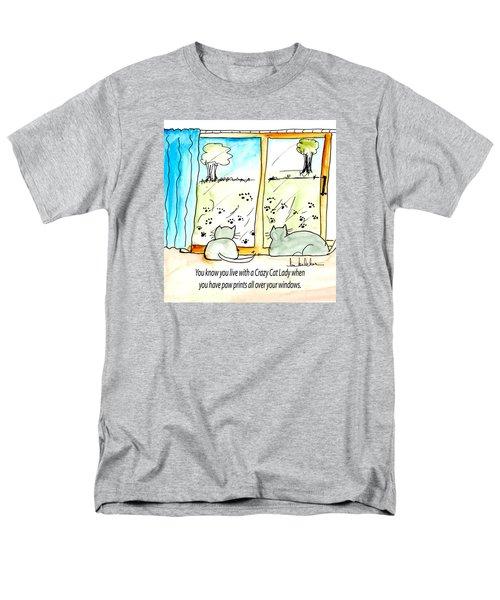 Crazy Cat Lady 0010 Men's T-Shirt  (Regular Fit) by Lou Belcher