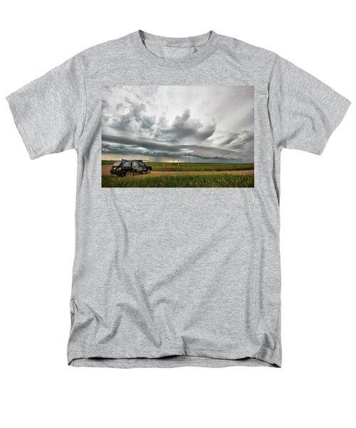 Crazy Shelf Cloud Near Ponteix Sk. Men's T-Shirt  (Regular Fit) by Ryan Crouse