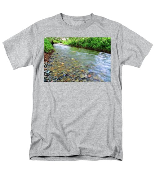 Creek Of Many Colors Men's T-Shirt  (Regular Fit) by Donna Blackhall