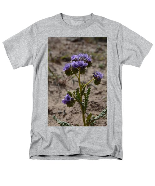 Crenulate Phacelia Flower Men's T-Shirt  (Regular Fit) by Jenessa Rahn