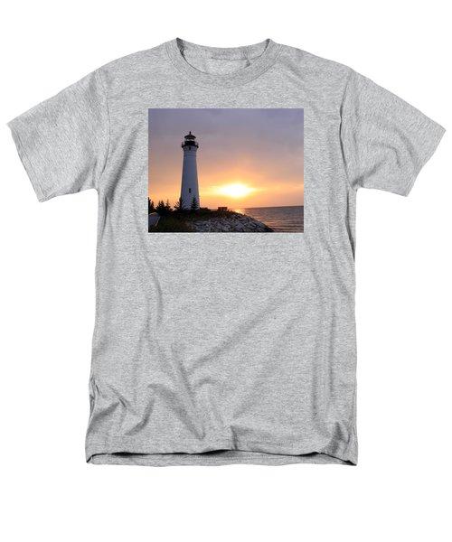 Crisp Point Lighthouse At Sunset Men's T-Shirt  (Regular Fit)