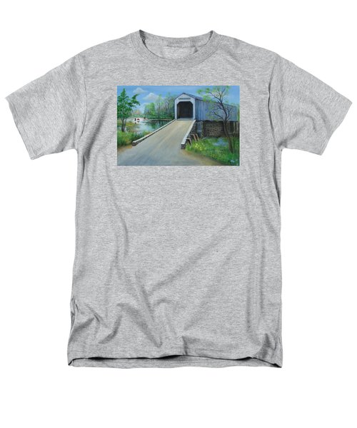 Crossing At The Covered Bridge Men's T-Shirt  (Regular Fit) by Oz Freedgood
