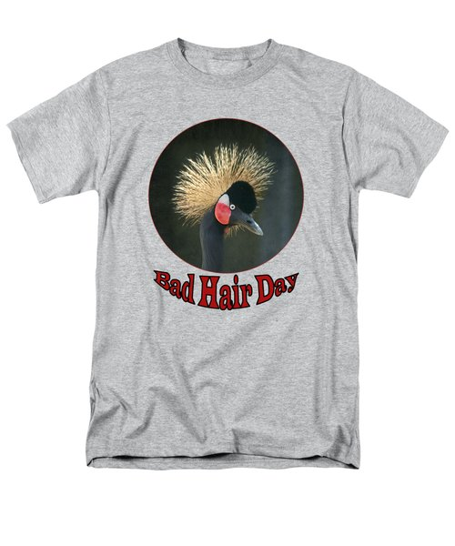 Crowned Crane - Bad Hair Day - Transparent Men's T-Shirt  (Regular Fit) by Nikolyn McDonald