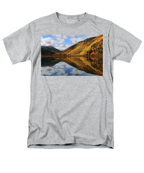 Men's T-Shirt  (Regular Fit) featuring the photograph Crystal Lake Autumn Reflection by Jetson Nguyen