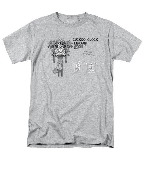 Cuckoo Clock Patent Art Men's T-Shirt  (Regular Fit) by Justyna JBJart